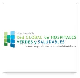 logo miembro de la Red Global de Hospitales verdes y saludables